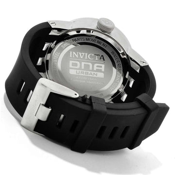 Invicta 10407 Men's DNA Urban Silver Tone Dial Black Silicone Strap Watch