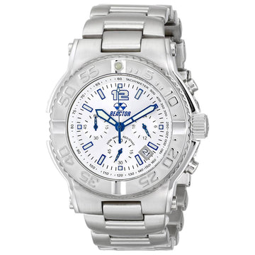 Reactor 75602 Men's Critical Mass DNA Silver Dial Steel Bracelet Chronograph Dive Watch