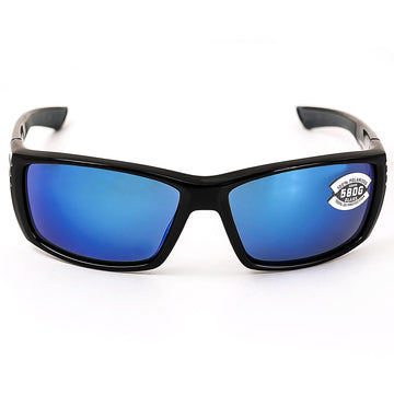 Costa Del Mar CZ11OBMGLP Unisex Cortez Shiny Black TR 90 Nylon Frame Polarized Blue Mirror 580G Lenses Sunglasses