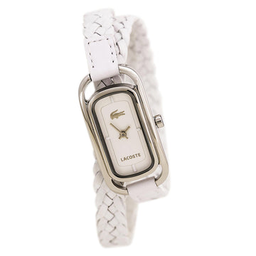 Lacoste 2000739 Women's White Braided Leather Strap Quartz Sienna