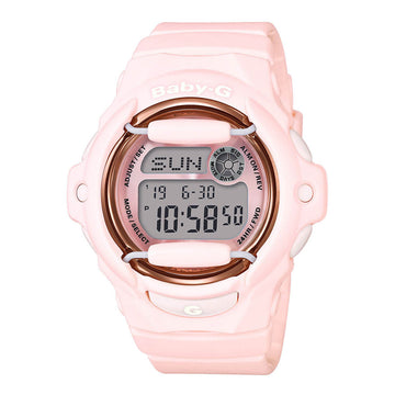 Casio BG169G-4B Women's Baby-G Pink Resin Strap World Time Watch