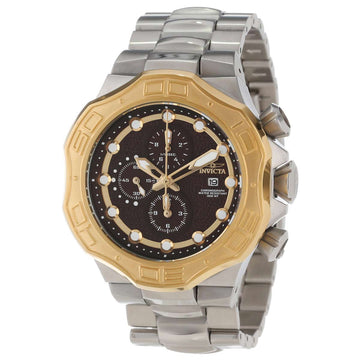 Invicta Men's Pro Diver Chronograph Watch - Quartz Steel Bracelet Brown Dial | 12431
