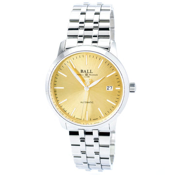 Ball Men's Automatic Watch - Trainmaster Legend Gold Tone Dial Bracelet | NM2030D-SJ-GO