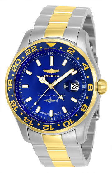 Invicta Men's Bracelet Watch - Pro Diver Quartz Blue Dial Two Tone Steel | 25826