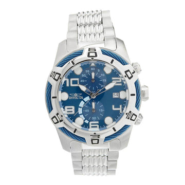 Invicta Men's Chronograph Watch - Bolt Blue Dial Stainless Steel Bracelet | 25548
