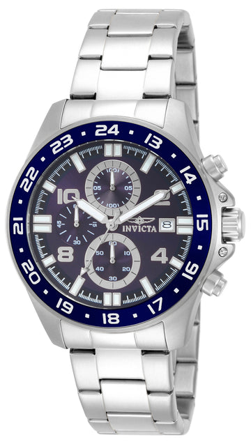 Invicta 13865 Men's Pro Diver Blue Dial Stainless Steel Bracelet Chronograph Watch