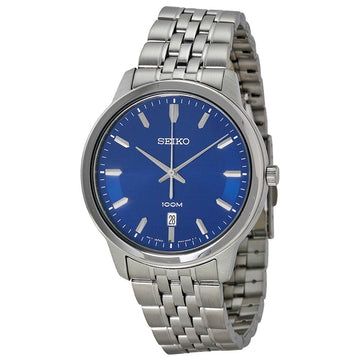 Seiko SUR029 Men's Classic Blue Dial Stainless Steel Bracelet Watch
