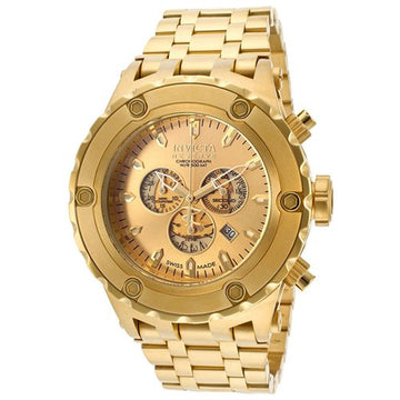 Invicta 14506 Men's Subaqua Reserve Gold Tone Dial Gold Plated Steel Bracelet Chronograph Dive Watch