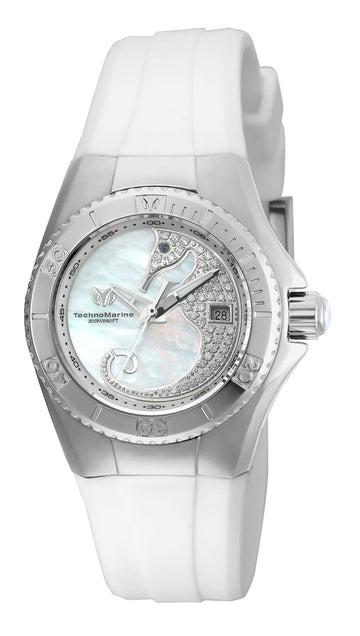 Technomarine Women's Silicone Strap Watch - Cruise Dream Crystal MOP Dial | TM-115206
