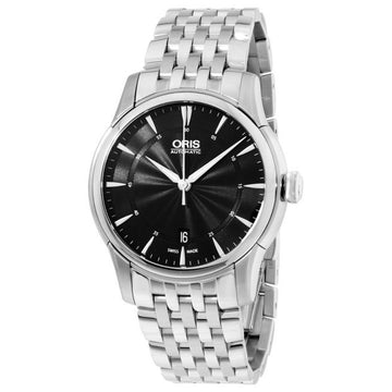 Oris 73376704054MB Men's Artelier Date Black Dial Stainless Steel Automatic