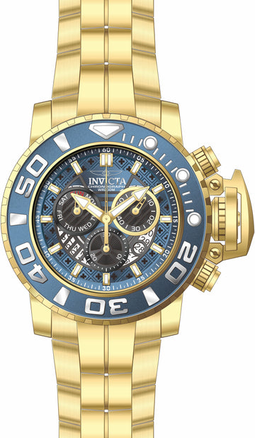 Invicta 22134 Sea Hunter Chrono Mens Yellow Gold Steel Watch