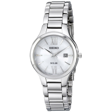 Seiko SUT207 Women's Solar Core White Dial Steel Bracelet Quartz Watch