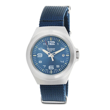 Traser Unisex Strap Watch - P59 Essential S Blue Nylon Blue Dial | 108210