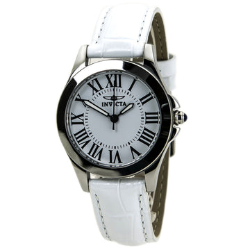 Invicta Women's Interchangeable Leather Strap Watch - Angel Quartz White Dial | 15935