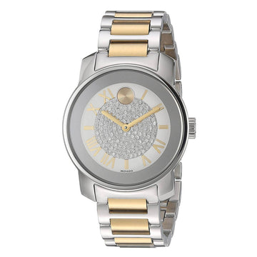 Movado Women's Swiss Watch - Bold Silver Dial Two Tone Steel | 3600256