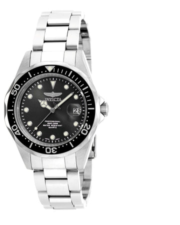 Invicta 17046 Men's Pro Diver Black Dial Stainless Steel Bracelet Dive Watch