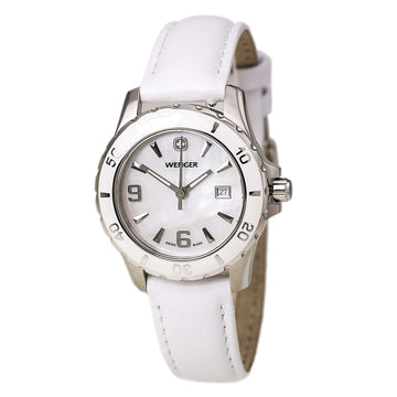 Wenger Women's Swiss Made Leather Strap Sport Watch 70382