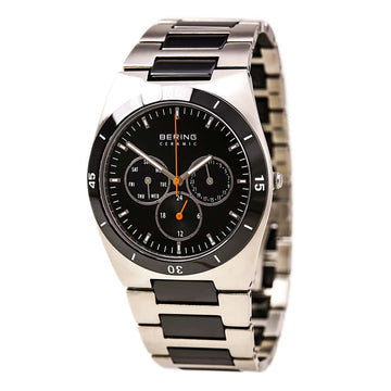 Bering 32341-742 Men's Ceramic Black Dial Steel & Black Ceramic Day Date Watch