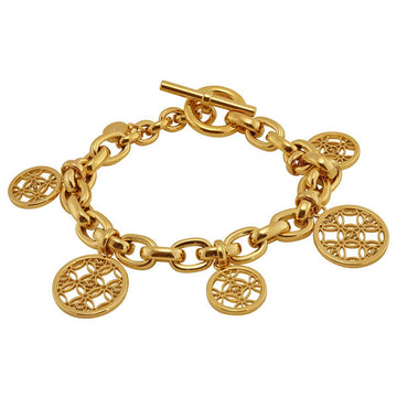 Michael Kors Women's Disc Charm Bracelet - Monogram Yellow Gold Steel | MKJ4473710