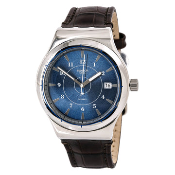 Swatch YIS404 Mens Sistem51 Irony Automatic Brown Bend Watch