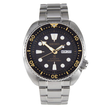 Seiko SRP775J1 Men's Prospex Turtle Automatic Black Dial Stainless Steel Dive Watch
