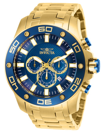 Invicta Men's Chronograph Watch - Pro Diver Quartz Blue Dial | 26078