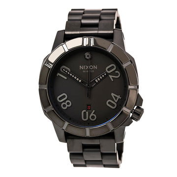 Nixon A506SW2242 Men's Ranger SW Imperial Pilot Black IP Steel Bracelet Black Dial Date Watch