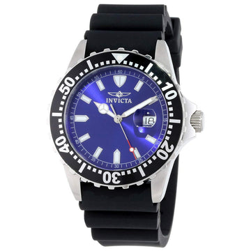 Invicta 10919 Men's Pro Diver Blue Dial Black Polyurethane Strap Swiss Quartz Watch