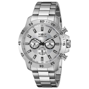 Invicta 21501 Men's Stainless Steel Bracelet Swiss Quartz Specialty Silver Dial Day-Date Watch