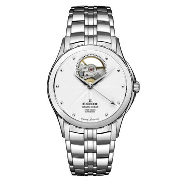 Edox 85013 3 AIN Grand Ocean Women's White Dial Swiss Watch