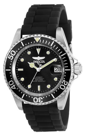Invicta Men's Automatic Watch - Pro Diver Black Dial Black Silicone Strap | 23678