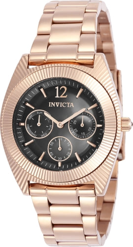 Invicta 23751 Women's Angel Grey Dial Rose Gold Steel Bracelet Watch