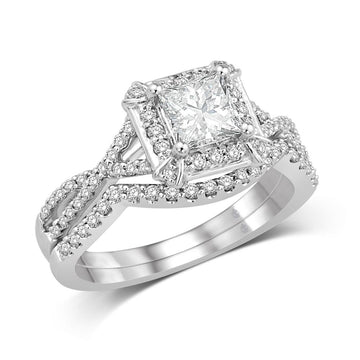 14K White Gold 1/2 Ct.Tw. Diamond Semi Mount Bridal