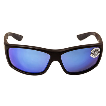 63c9a7274b7 Costa Del Mar BK11OBMGLP Men s Saltbreak Polarized Blue Mirror 580G Lens  Matte Black Frame Sunglasses
