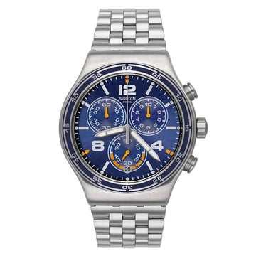 Swatch YVS430G Men's Archi-Mix Destination Barcelona Steel Bracelet Blue Dial Swiss Chrono Watch