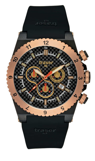 Traser T 7404 Men's Chronograph Classic Carbon Pro Watch
