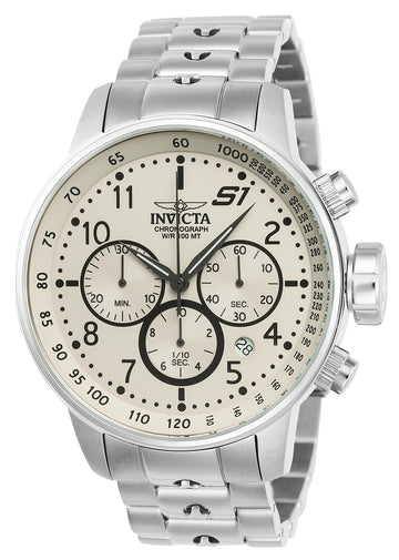 Invicta Men's Chronograph Stainless Steel Watch - S1 Rally Quartz Beige Dial | 23077
