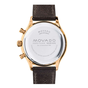 Movado Men's Strap Watch - Heritage Calendoplan Brown Leather Strap | 3650021