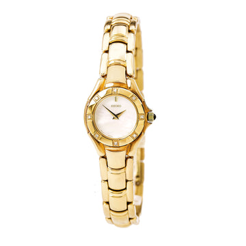 Seiko SUJ620 Women's Mother of Pearl Dial Gold Tone Steel Bracelet Watch