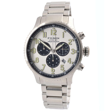 Filson 10000313 Mackinaw Field Men's White Dial Chrono Watch