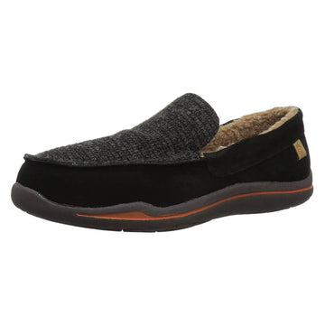Acorn Men's Slipper - Ellsworth Suede Moc Black | A18801