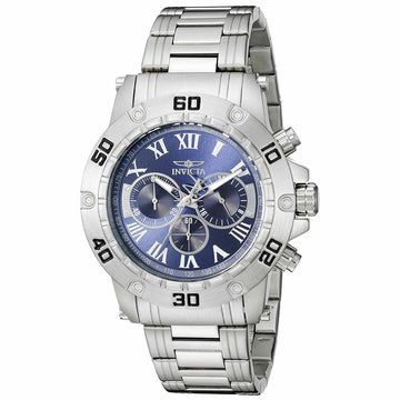Invicta 19697 Men's Specialty Blue Dial Steel Bracelet Chronograph Watch