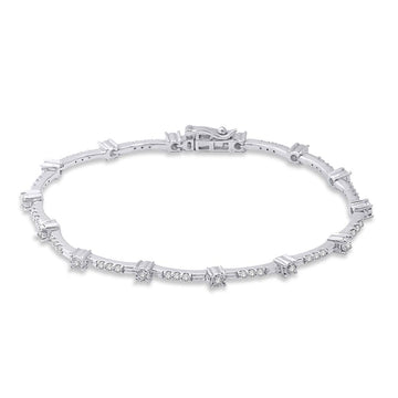 14K White Gold 1 1/10 Ctw Diamond Fashion Bracelet