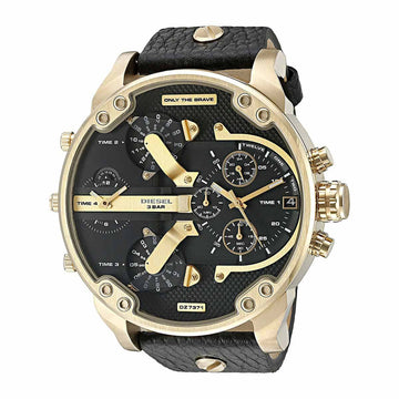 Diesel DZ7371 Mr. Daddy 2.0 Men's Black Strap Chrono Watch