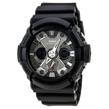 Casio Men's World time Watch - G-Shock Alarm Dive Ana-Digi Black Dial | GA201-1A