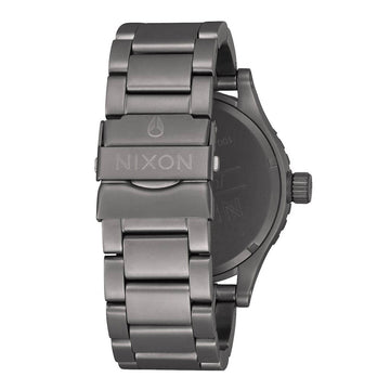 Nixon Men's Bracelet Watch - 46 Dark Blue Dial Gunmetal Steel | A9162340