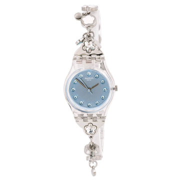 Swatch LK356G Floralia Flower Bumble Women's Crystal Watch