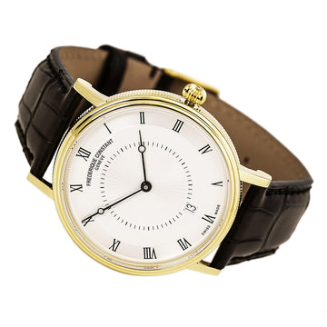 Frederique Constant 306MC4S35 Men's Brown Band Swiss Watch