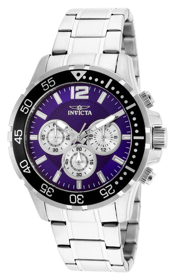 Invicta Men's Chronograph Watch - Specialty Purple & Silver Dial | 25755