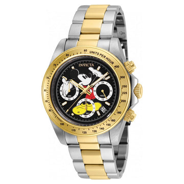 Invicta 25194 Men's Disney Black Dial Two Tone Steel Chronograph Dive Watch